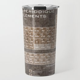 Tableau Periodiques Periodic Table Of The Elements Vintage Chart Sepia Red Tint Travel Mug