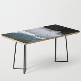 Aerial of a Black Sand Beach with Waves - Oceanscape Coffee Table