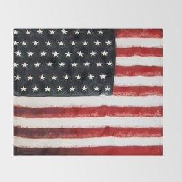 USA Flag ~ American Flag ~ Ginkelmier Inspired Throw Blanket