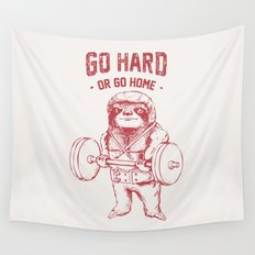 Go Hard or Go Home Sloth Wall Tapestry