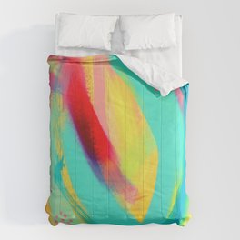 Be Proud, Be OK - tropical colorful brush summer modern abstract Comforters