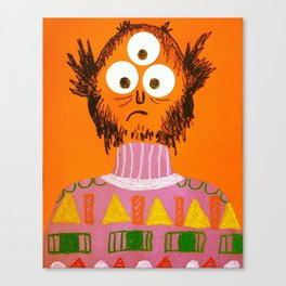 Shape Sweater Monster Canvas Print
