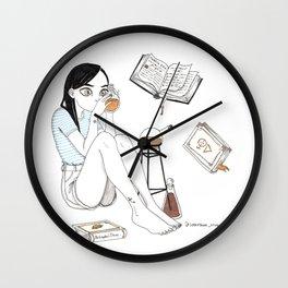 Inktober / alchemist Wall Clock