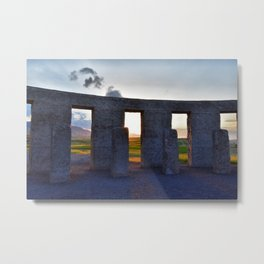 Stonehenge Zeotrope Metal Print