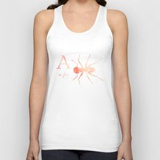 A is for Ant; Unisex Tank Top