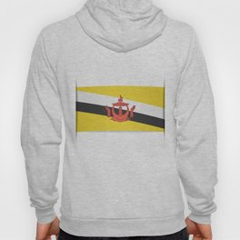 Flag of Brunei.  The slit in the paper with shadows. Hoody