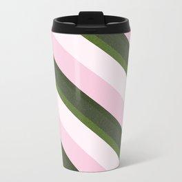 Pink Roses in Anzures 3 Stripes 3D Metal Travel Mug