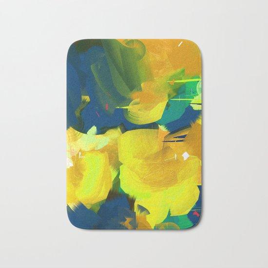 Summer #Abstract #Flowers Bath Mat