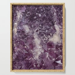 Deep Purple Quartz Crystal Serving Tray