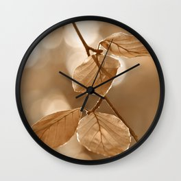 Autumn Leaves 126 Wall Clock