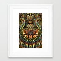 totem Framed Art Prints featuring Totem by Lyle Hatch