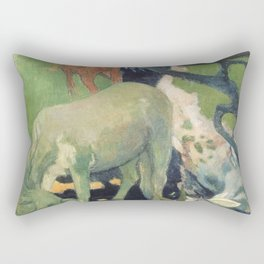 The White Horse by Paul Gauguin Rectangular Pillow