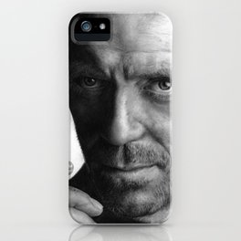 Dr. House pencil drawing fanart iPhone Case