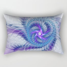 Swirl, Abstract Fractal Art Rectangular Pillow