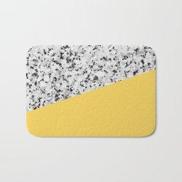 Granite and primrose yellow color Bath Mat