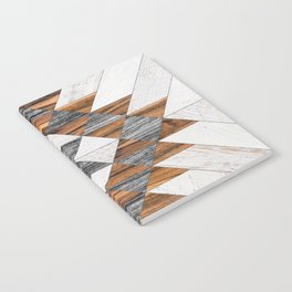 Urban Tribal Pattern No.12 - Aztec - Wood Notebook
