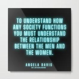 21  |  Angela Davis | Angela Davis Quotes |200814 Metal Print