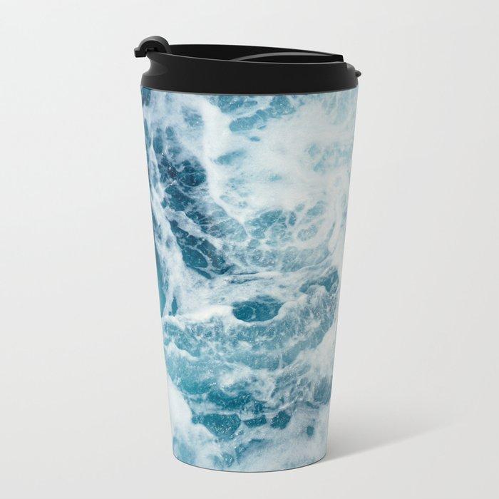 Sea Swirl Metal Travel Mug