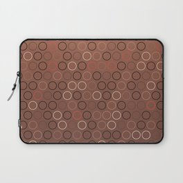 Tasty brown coffee chocolate background with circles Laptop Sleeve