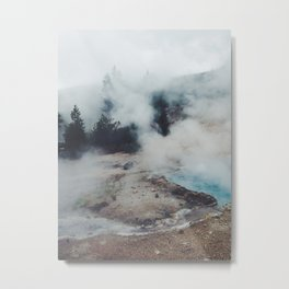 Jump Into the Fog Metal Print