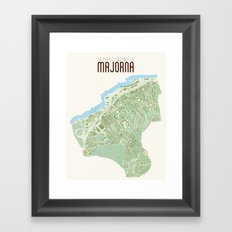 Map of the people's republic of Majorna Framed Art Print