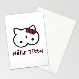 Hello Titty Stationery Cards