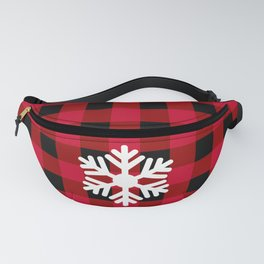 Red Buffalo Check - snowflake - more colors Fanny Pack