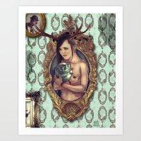 cuddle Art Prints featuring Cuddle by Joel Amat Güell