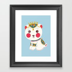 The Ethnic Polar Bear Framed Art Print