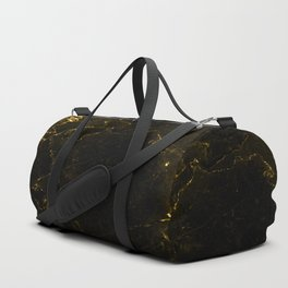 Black Gold Marble Duffle Bag