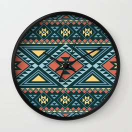 American Native Pattern No. 155 Wall Clock