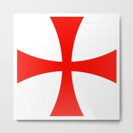 Knights Templar cross Metal Print