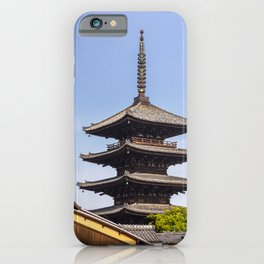 Yasaka Pagoda from Yasaka Street in Koyoto, Japan iPhone Case