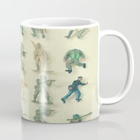 army Mugs featuring Broken Army by Cassia Beck