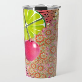Candied Fruities, Flowered Cooties Travel Mug
