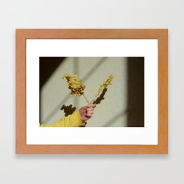 when i look up to the skies, i'm reminded of her big blue eyes (1) Framed Art Print