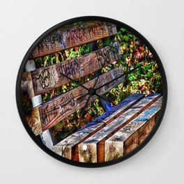 Have A Seat Wall Clock