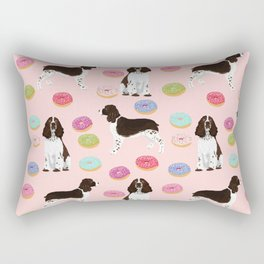 English Springer Spaniel donuts funny dog gifts perfect for spaniel owner pet portraits Rectangular Pillow