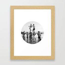 Beach Party 2 Framed Art Print
