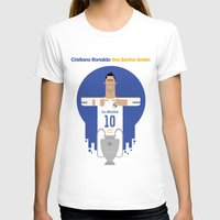 real madrid T-shirts featuring Cristiano Ronaldo Real Madrid Illustration by Gary  Ralphs Illustrations