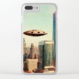 UFO Down Town Clear iPhone Case