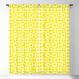 Moroccan Tiles Yellow Blackout Curtain