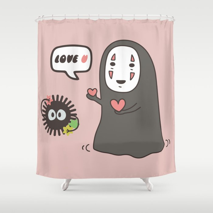 Studio Ghibli No Face In Love Of SootBall Shower Curtain By Designdinamique