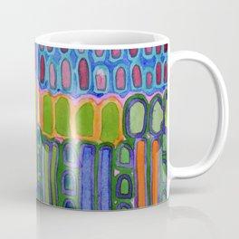 Colorful elongated Forms Pattern Coffee Mug
