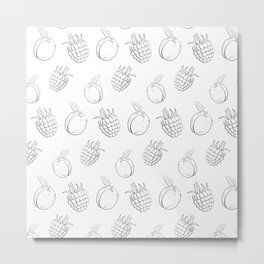 Cute and nice fruits and berry with raspberry and plum Metal Print