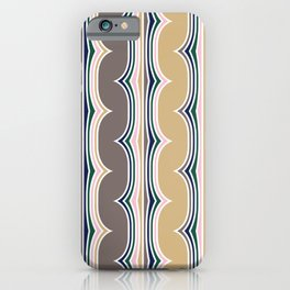 Geometric, Abstract Stripes, Colorful, Retro Art iPhone Case