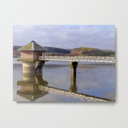 Cropston Reservior In Colour Metal Print