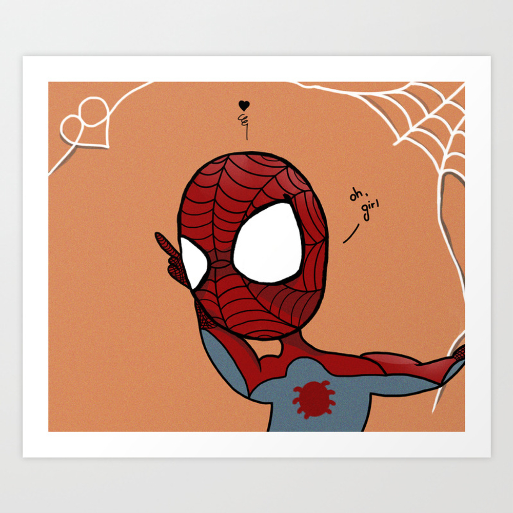 Spider Man Art Print by Singlitikia PRN8968211