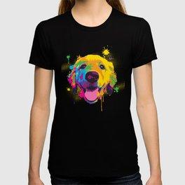 Playful Riley Pup Art T-shirt