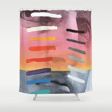 Composition on Panel 4 Shower Curtain